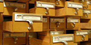 library card catalog